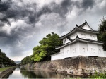 Nijo Castle - Moat Guard House Dramatic Sky - Kyoto Japan