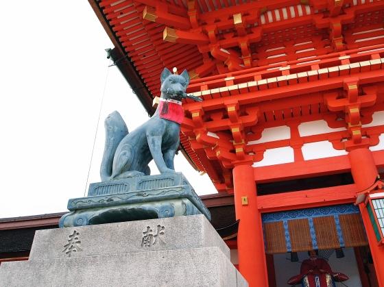 Foxes Kitsune at Fushimi Inari Shrine - Kyoto