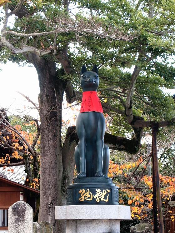 Kitsune Fox at Fushimi Inari Shrine in Kyoto