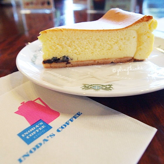 Cheesecake Inoda Coffee - Kyoto Cafe