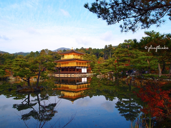 Golden Pavilion Gold Temple Kinkaku-ji - Kyoto Japan