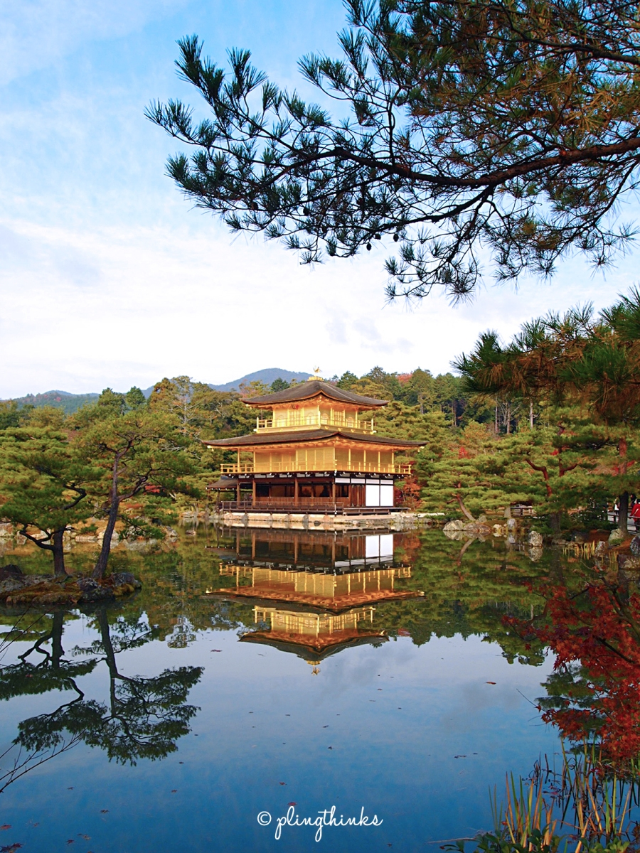 Kinkaku-ji // Kyoto's Golden Pavilion and Its Perfect Water Reflection
